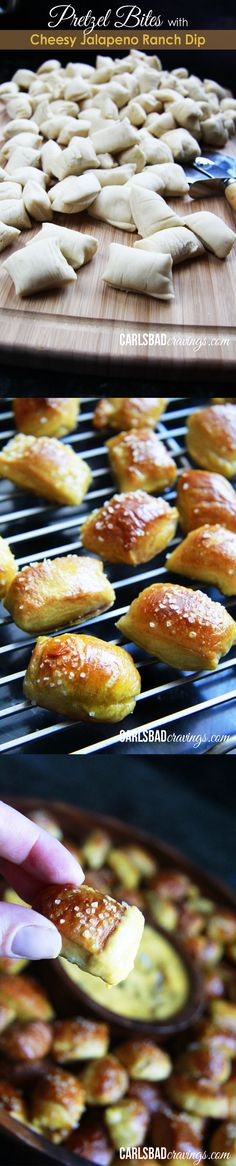 EASY AND DELICIOUS!  Soft pretzel bites with the most delicious dipping sauce ever!  I always bring this crowd pleaser to parties!