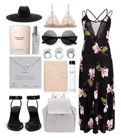 """""""Mesh Maxi Dress in Magnolia Print"""" by eva-jez ❤ liked on Polyvore featuring Alexander Wang, Dogeared, Forever New, Bobbi Brown Cosmetics, Paul's Boutique, Estée Lauder, Yves Saint Laurent, maxidress, summerstyle and mesh"""