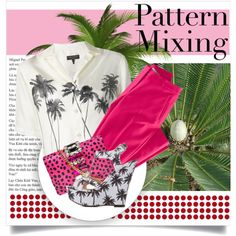 Pattern Mixing by lenochca on Polyvore featuring mode, rag & bone, H&M, Charlotte Russe and GEDEBE