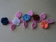 Flores pequeñas en crochet