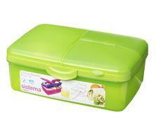 Zobrazit více ke zboží Sistema Krabička se 4 oddíly a lahvičkou, 1,5l Toy Chest, Storage Chest, Lunch Box, Bottle, Toys, Green, Home Decor, Products, Activity Toys