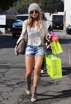 Slasher Flick Shorts in Denim as seen on Ashley Tisdale