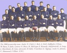 Celebrating the Carlton Football Club's 16 Premierships. 1908 Grand Final: Carlton 5.5.35 def Essendon 3.8.26.