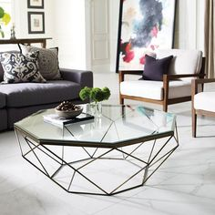 Unique Coffee Table Design in Your Enchanting Living Room Area Coffee Table Design, Modern Glass Coffee Table, Unique Coffee Table, Brass Coffee Table, Diy Coffee Table, Decorating Coffee Tables, Small Space Coffee Table, Modern Tabletop, Creative Coffee