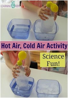 Air, Cold Air Science Activity Kids will love this! Science Activity Hot Air Cold Air Experiment- watch as the balloon inflates and deflates!Kids will love this! Science Activity Hot Air Cold Air Experiment- watch as the balloon inflates and deflates! Kid Science, Physical Science, Science Fair, Teaching Science, Science Education, Science With Kids, Summer Science, Science Activities For Kindergarteners, Science Activities For Preschoolers