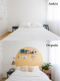 Bedroom Wall, Diy Bedroom Decor, Home Decor, Painted Headboard, Apartment Living, Room Inspiration, Decoration, Interior Design, Rooms
