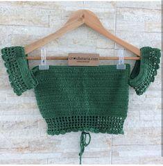 Crochet Top Outfit, Crochet Blouse, Crochet Clothes, Knit Crochet, Bralette Pattern, Crochet Bikini Pattern, Crochet Designs, Crochet Patterns, Diy Jeans