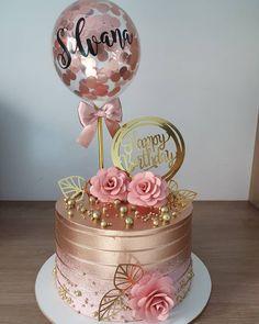 Birthday Cale, White Birthday Cakes, 21st Birthday Cakes, Chocolate Birthday Cake Decoration, Birthday Cake Decorating, Rocket Cake, Cake Decorating Videos, Balloon Cake, Cake Trends