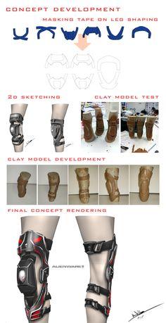 Knee brace design For Stunt Riders on Behance