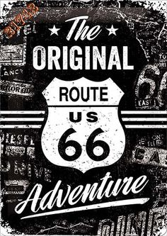 Super Old Cars Vintage Tattoo Ideas Route 66 Usa, Route 66 Road Trip, Man Cave Tin Signs, Nostalgic Art, Old Garage, Vintage Metal Signs, Decoupage Vintage, Vintage Posters, Coca Cola