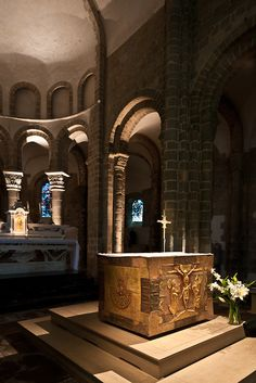 Altar at Abbaye Saint Gildas-de-Rhuys, Saint Gildas-de-Rhuys (Morhiban)  Photo by PJ McKey