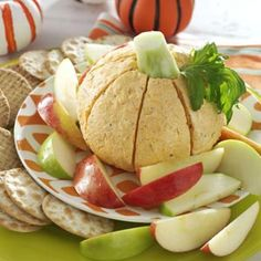 Pumpkin-Shaped Cheese Ball- Our favorite cute Halloween recipes! These top-rated spooky recipes—from ghostly treats to pumpkin appetizers—are sure to scare up plenty of fun at your Halloween party. Potluck Recipes, Fall Recipes, Appetizer Recipes, Holiday Recipes, Appetizers, Cooking Recipes, Potluck Ideas, Holiday Ideas, Holiday Foods