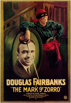 The Mark of Zorro (1920): In old Spanish California, the oppressive colonial government is opposed by Zorro, masked champion of the people, who appears out of nowhere with flashing sword and an athletic sense of humor, scarring the faces of evildoers with his Mark. Meanwhile, beautiful Lolita is courted by villainous Captain Ramon, rich but effete Don Diego... and dashing Zorro, who is never seen at the same time as Don Diego.
