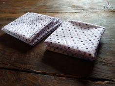 Lot de 4 mouchoirs lavables, en coton : Soin, bien-être par le-royaume-de-physalis