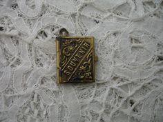 Antique souvenir book pendant by Nkempantiques on Etsy