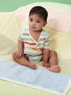 Free+Knitting+Pattern+-+Baby+Blankets+&+Afghans:+Pastel+Stripe+Baby+Blanket