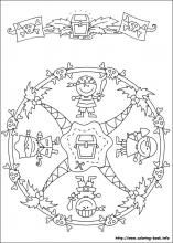 Mandalas bring relaxation and comfort to adults all over the world. Mandalas are one of our favorite things to color. Kids can color them too! We have some more simple mandalas for kids to color. Mandalas for Kids Pattern Coloring Pages, Mandala Coloring Pages, Colouring Pages, Printable Coloring Pages, Adult Coloring Pages, Coloring Sheets, Coloring Books, Pirate Day, Pirate Theme