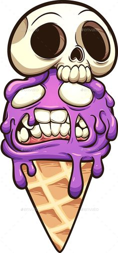 Zombie ice cream with skull. Vector clip art illustration with simple gradients…. Zombie ice with skull. Vector clip art illustration with simple gradients. Graffiti Alphabet, Alphabet Poster, Graffiti Doodles, Graffiti Cartoons, Graffiti Characters, Graffiti Drawing, Graffiti Lettering, How To Draw Graffiti, Graffiti Painting