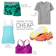 7 Places to Find Cheap Workout Clothes