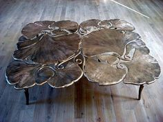 Claude and Francois-Xavier Lalanne | gingko leave table