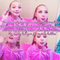 Haha! Maddie doing a gumball makeup tutorial on Youtube.