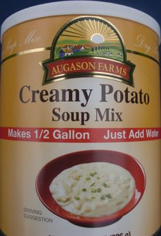 Augason Farms Creamy Potato Soup - Here it is, in all of its efficient and nutritious beauty.