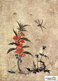 (Korea) by Lady Shin Saimdang (1504-1551). ca 16th century CE. colors on paper.
