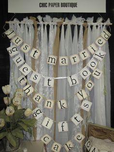 BURLAP and LACE BACKDROP Burlap and Lace Wedding Decoration Burlap and Lace Wedding Decor Burlap Photo Backdrop. $40.00, via Etsy.