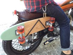 skateboard carrier for motorcycle - Buscar con Google