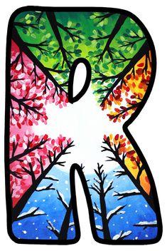 Buchstabe - Letter R r letra Monogram Alphabet, Alphabet And Numbers, Cartoon Wallpaper, Wallpaper Backgrounds, Decoupage Letters, Disney Alphabet, Printable Letters, Graffiti Alphabet, Paint Party