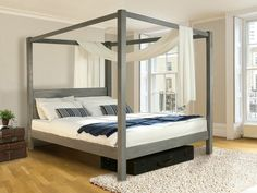 Acquista on-line Four poster bed - classic By get laid beds, letto in legno a baldacchino
