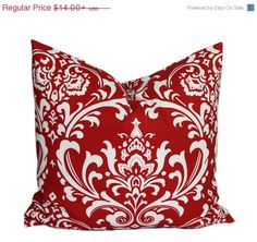 SALE Red Pillows Decorative Pillow covers by HomeDecorPillows