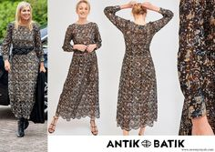 Antik Batik Khero Embroidered Openwork Long Dress