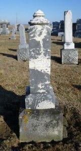 Caroline Hiller, Kessler Cemetery, Mercer County, Ohio. (2016 photo by Karen) #genealogy
