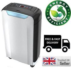 12 Litre Deluxe Dehumidifier with Ioniser Clothes Drying Function and 24Hr Timer