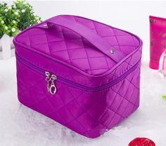 Cosmetic box 2017 new female Quilted professional cosmetic bag women's large capacity storage handbag travel toiletry makeup bag Professional Makeup Bag, Bag Women, Cosmetic Box, Travel Toiletries, Beach Tote Bags, Bag Organization, Bellisima, Quilting Designs, Luggage Bags