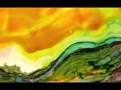 Painting with Alcohol Inks on Yupo Paper, with Wendy Videlock. by rosalyn