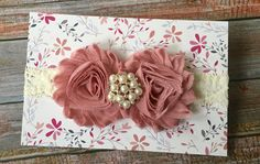 Dusty Pink Baby Headband/Baby Headband/Newborn Headband/Newborn Photo Prop/Dusty Rose Headband/Baby Girl Headband/Toddler Headband/Headband by JuliaGraceDesigns1 on Etsy