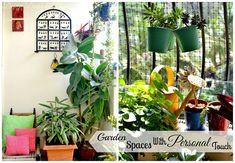 Design Decor & Disha: Balcony Gardens With Personal Touches Apartment Balcony Garden, Small Balcony Garden, Balcony Gardening, Small Balconies, Target Home Decor, Home Decor Store, Unique Gardens, Small Gardens, Outdoor Gardens