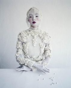 Xiao Wen Ju in Givenchy Haute Couture by Ricardo Tisci SS 2012 by Tim Walker for W Magazine 2012