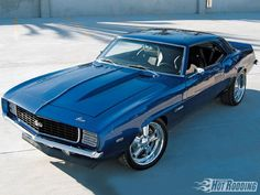 1968 Chevy Camaro. My dream car. I would like a different color though... Definitely not blue