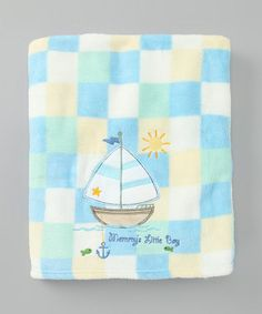 Take a look at this Blue Sailboat Receiving Blanket by Blow-Out: Home on #zulily today!