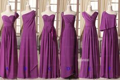 long bridesmaid dresses purple bridesmaid dresses by okbridal, $126.00  Style B would be good, and potentially very forgiving- maybe a little more comfortable than something more form-fitting??