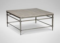 Vida Square Wood Top Coffee Table| Coffee Tables | Ethan Allen