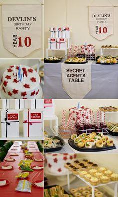 secret agent themed party