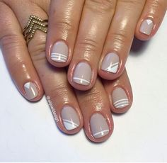 Essie major moments and Rose gold stripes from finger bang