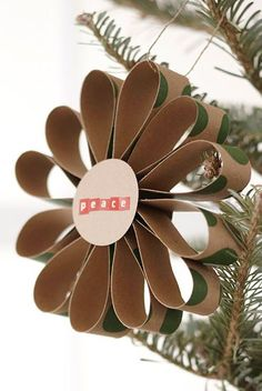 Christmas ● DIY ● Tutorial ● Handmade Ornament Rosettes you could so do this with toilet paper rolls!