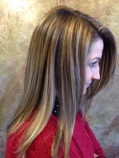 haircuts and color highlights aubrum lowlights layers hair layers side 3598