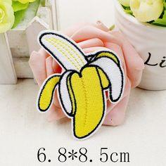 Plátano (Tamaño: 6.8X8.5 cm) Insignias de Tela Jeans Vaquero Decoración Apliques Parche Ropa Chaquetas en Emblemas de Casa, cocina y Jardín en AliExpress.com | Alibaba Group