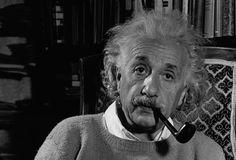 Albert Einstein in His Study